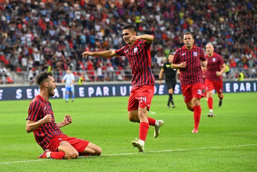 Bogdan Chipirliu (stânga) a marcat două goluri vs. OFK Belgrad
