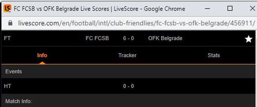 Ups, au comis-o din nou! Gafă uriașă în timpul amicalului CSA Steaua - OFK Belgrad