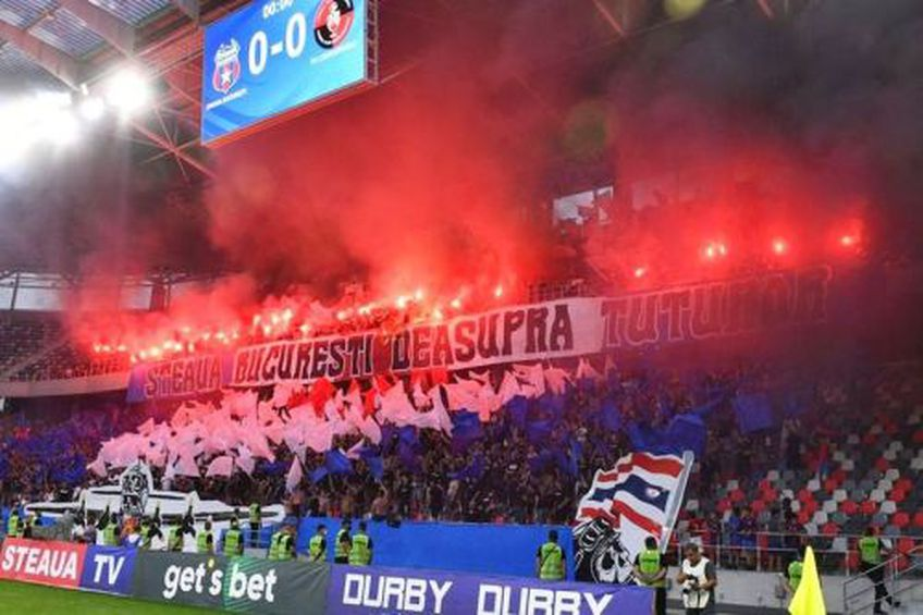 Peluza Sud Steaua la meciul cu Csikszereda