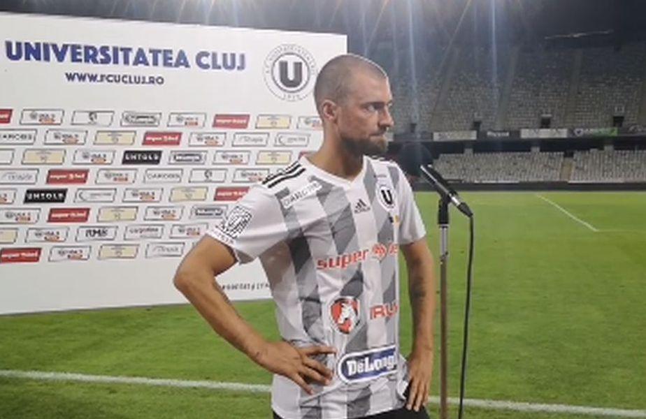 Gabi Tamaș // foto: captură Facebook @ FC Universitatea Cluj