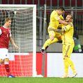 România a învins-o pe Austria, scor 3-1 (Baumgartner'17, Onisiwo '81 / Alibec '3, Grigore '51, Maxim '69), în a doua rundă din grupele Ligii Națiunilor.