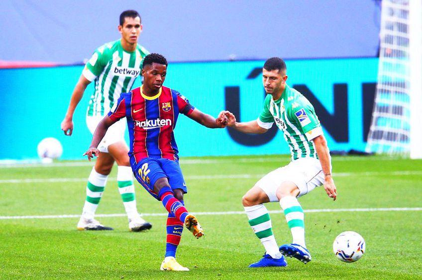 Barcelona a anunțat că Ansu Fati (18 ani) a suferit o ruptură de menisc la genunchiul stâng.