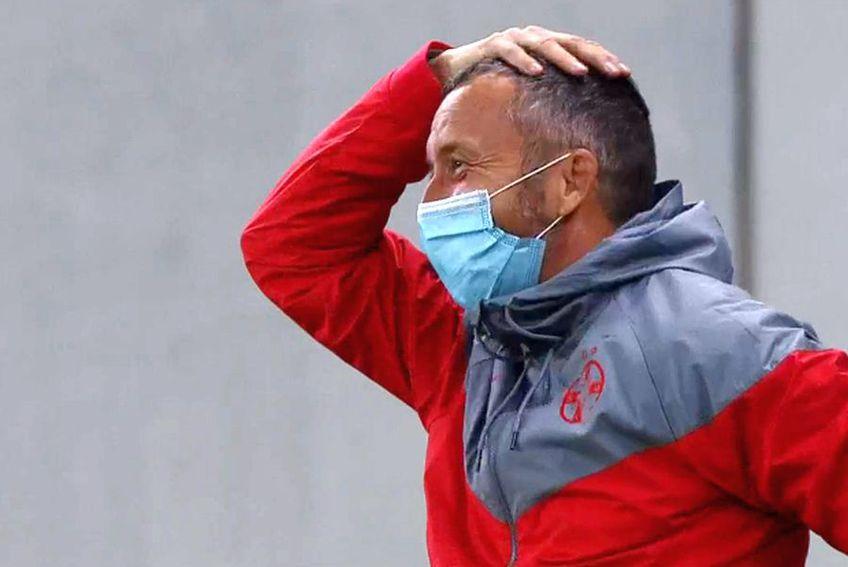 Mihai Stoica, după golul înscris de Florin Tănase // foto: captură @ TV Telekom Sport