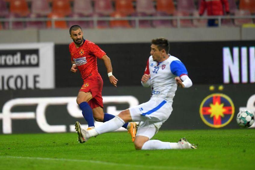 Vali Crețu (roșu), în FCSB - FC Botoșani 4-1