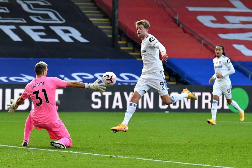 Golul anulat al lui Patrick Bamford în Crystal Palace - Leeds // foto: Guliver/gettyimages