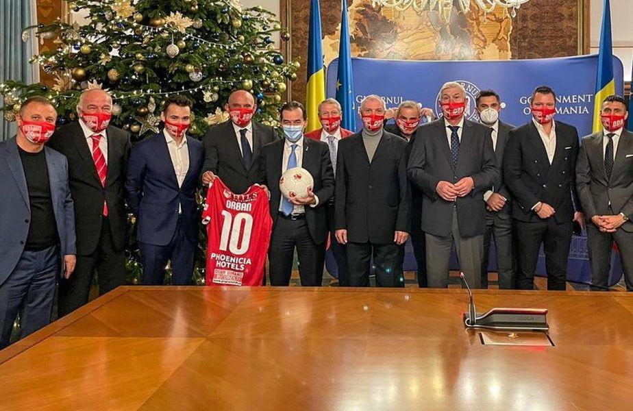 Întâlnirea dintre prim-ministrul Ludovic Orban și dinamoviști a avut loc vinerea trecută