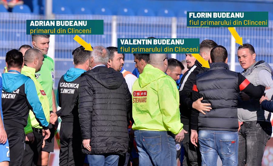 """CLINCENI - VIITORUL 2-3 // VIDEO Scene reprobabile la Clinceni! Primarul și băieții lui au intrat pe teren ca să bruscheze arbitrii: """"Plecați tranșați de aici!"""""""