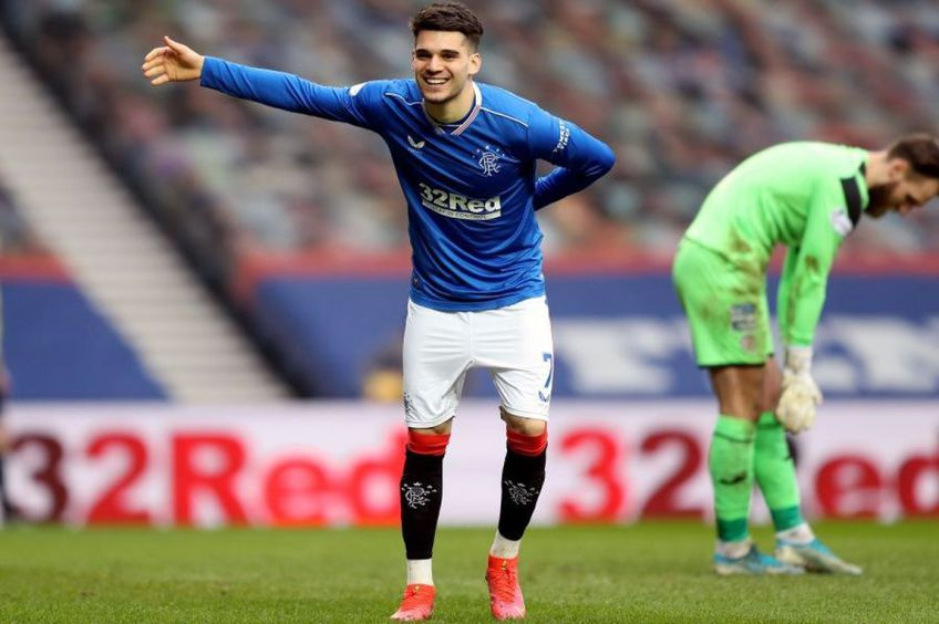 Ianis Hagi a înscris în Rangers - St. Mirren 3-0