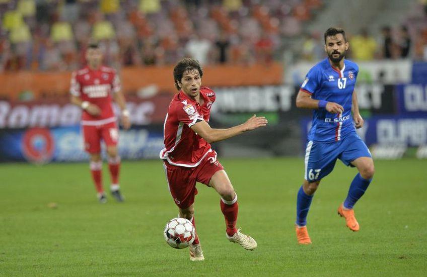 Ionel Gane (49 de ani) a decis să îl țină rezervă pe Diego Fabbrini (30 de ani) în meciul dintre Voluntari și Dinamo.