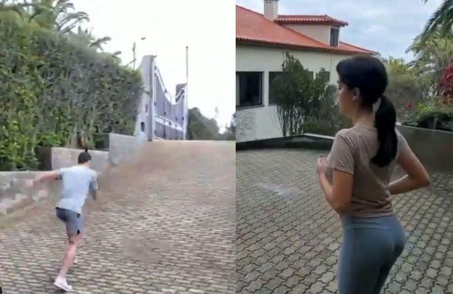 Cristiano Ronaldo se antrenează alături de Georgina Rodriguez // sursă foto: Instagram @ cristiano