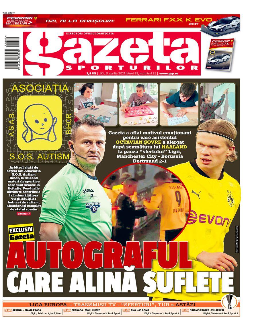 Pagina 1 Gazeta Sporturilor, joi, 8 aprilie 2021