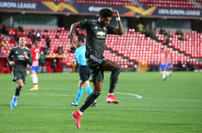 Manchester United a deschis scorul cu Granada în urma unei faze de excepție.
