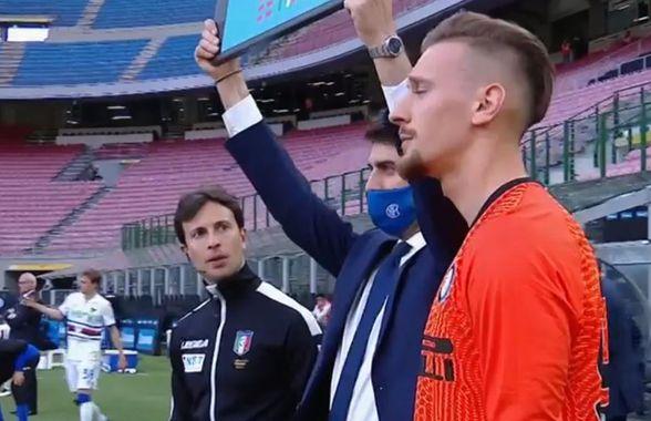 Ionuț Radu, primul meci după un an și jumătate! Emoționat înainte de schimbare