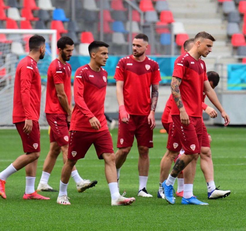 Reprezentativa din Macedonia de Nord s-a antrenat marți seara pe stadionul Steaua.