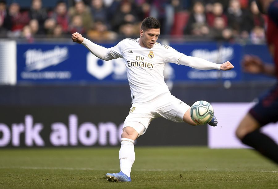 Luka Jovic în Osasuna - Real Madrid // foto: Guliver/gettyimages