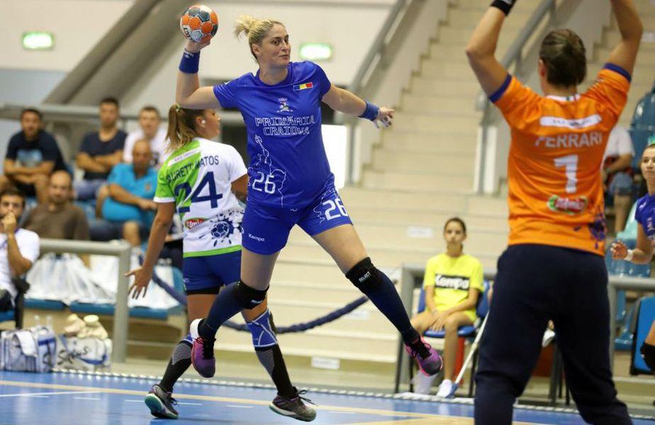 Nicoleta Tudorică a marcat de 4 ori în dubla cu italiencele FOTO Ionuț Buharu