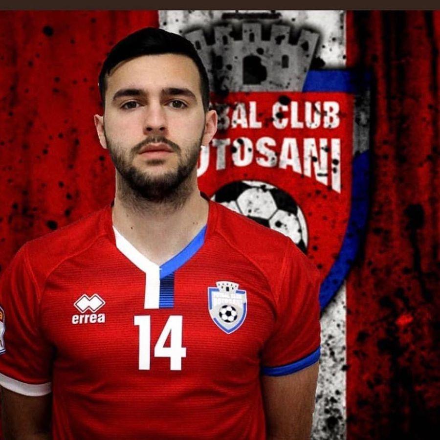 Alessio Carlone, la FC Botoșani // foto: Instagram @ alessiocarlone