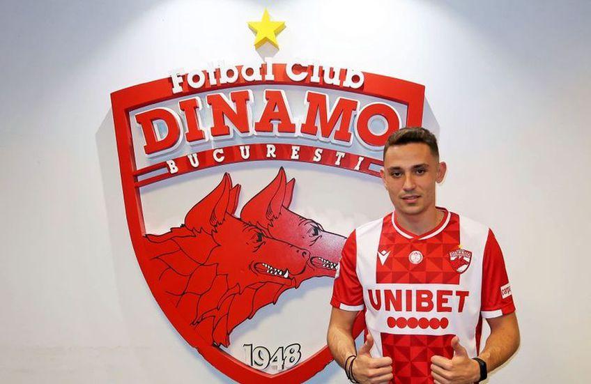 Andrei Blejdea a semnat cu Dinamo. Sursă foto: Facebook Dinamo