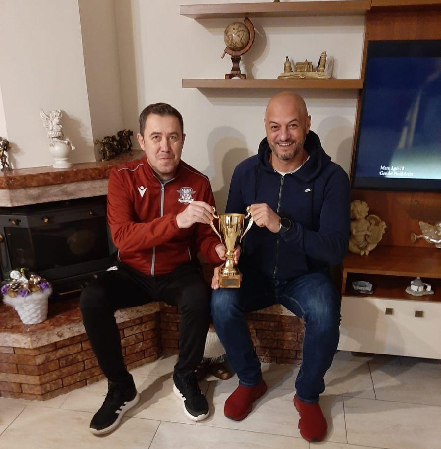 Lucian Ionescu, alături de fostul căpitan al Rapidului, Cristi Dulca
