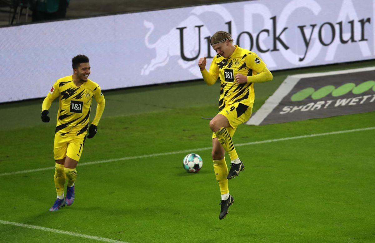 "Haaland, ""dublă"" în Leipzig - Dortmund 1-3 / FOTO: GettyImages"