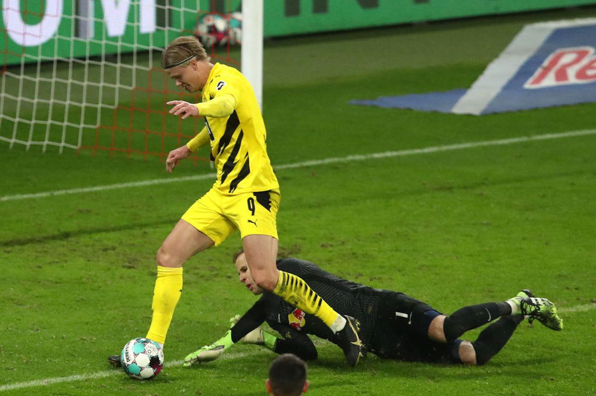 FOTO Erling Haaland, dominant în derby-ul Leipzig - Dortmund! Două goluri de mare atacant