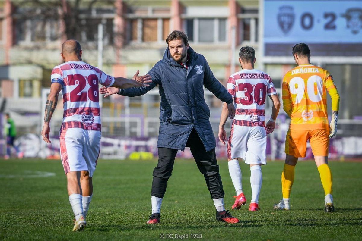 Rapid, 3 amicale înaintea reluării campionatului » Adversarele alese de Nicolae Grigore
