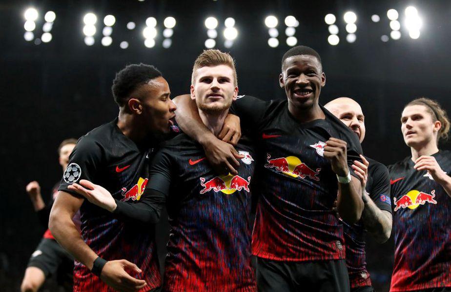 RB Leipzig a câștigat prima manșă cu Tottenham din optimile Ligii. Foto: Reuters