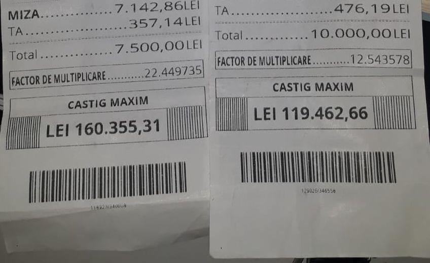 """Un parior din București a dat lovitura în week-end. A """"înverzit"""" două bilete cu câștiguri totale de aproape 280.000 de lei."""
