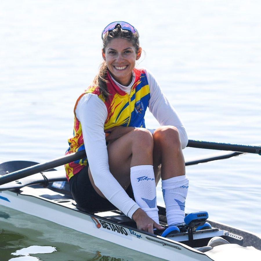 Gianina Beleagă e calificată în finală la simplu, categorie ușoară FOTO FR Canotaj
