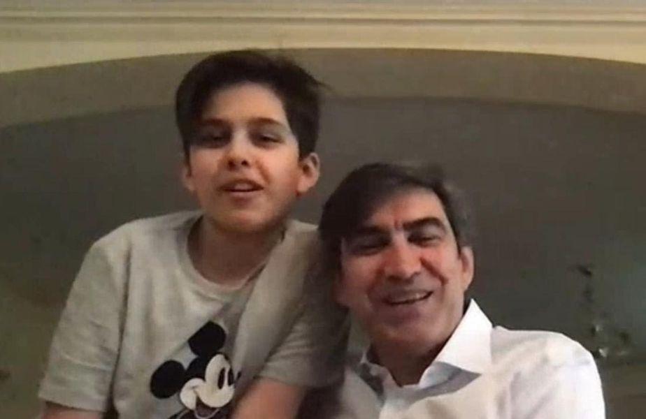 Victor Pițurcă și Edan, fiul său cel mai mic