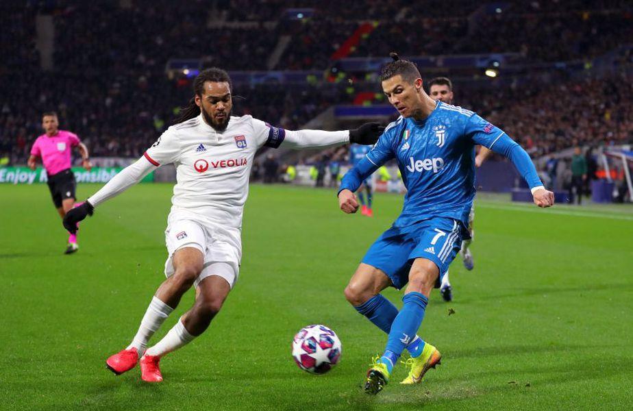 În turul optimilor Ligii Campionilor, Lyon s-a impus cu 1-0 în fața lui Juventus // sursă foto: Guliver/gettyimages