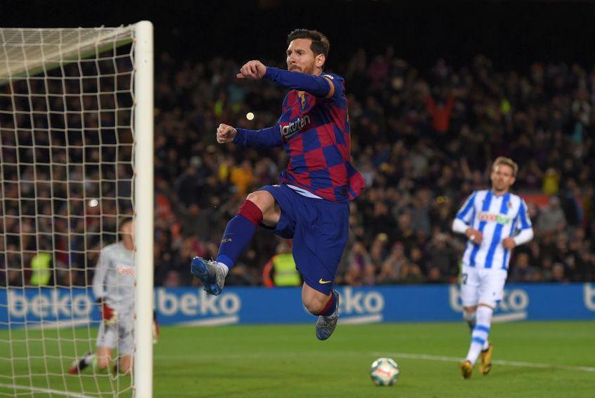 Lionel Messi va putea fi felicitat fără restricții anti-COVID-19 când înscrie pentru Barcelona // foto: Guliver/gettyimages