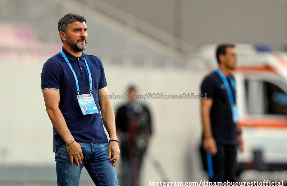 Adrian Mihalcea are două înfrângeri contra rivalei FCSB // FOTO: https://www.facebook.com/FCDinamoOfficial/