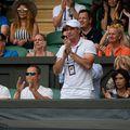 Daniel Dobre în tribună la Wimbledon, în 2019 FOTO Hepta