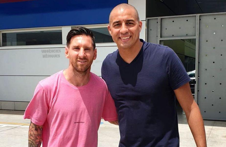 Leo Messi și David Trezeguet FOTO: Facebook