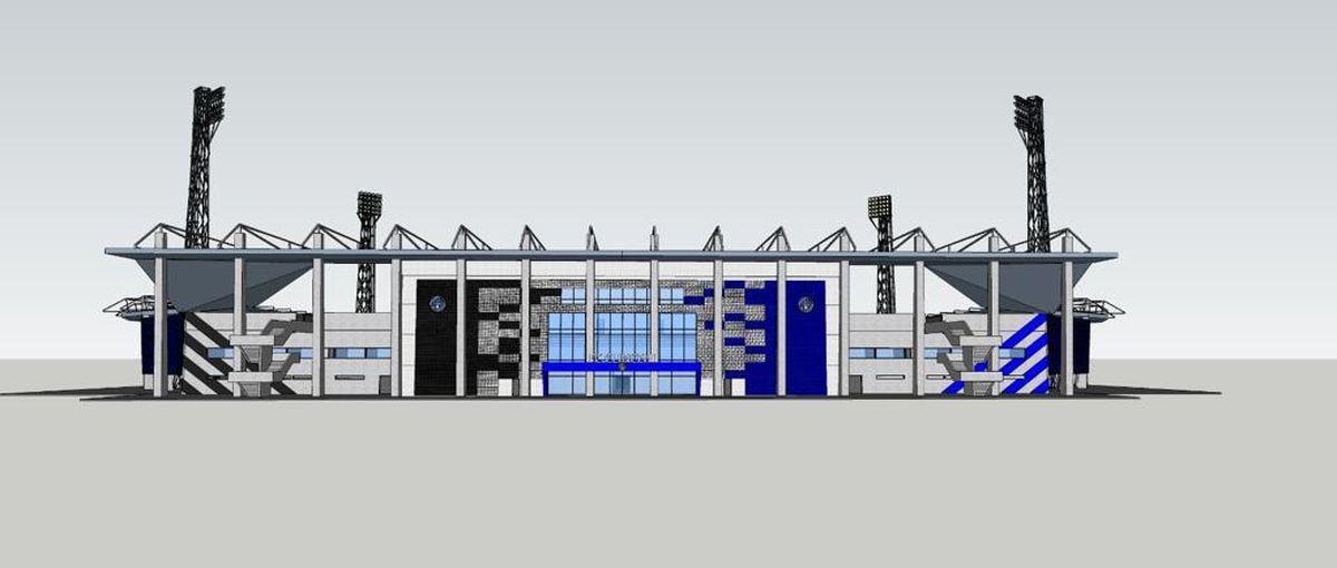 Plan stadion Academica Clinceni
