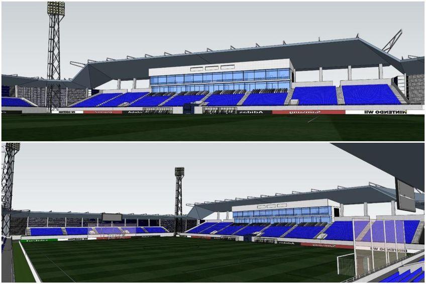 Așa ar urma să arate noua arenă din Clinceni // foto: Facebook