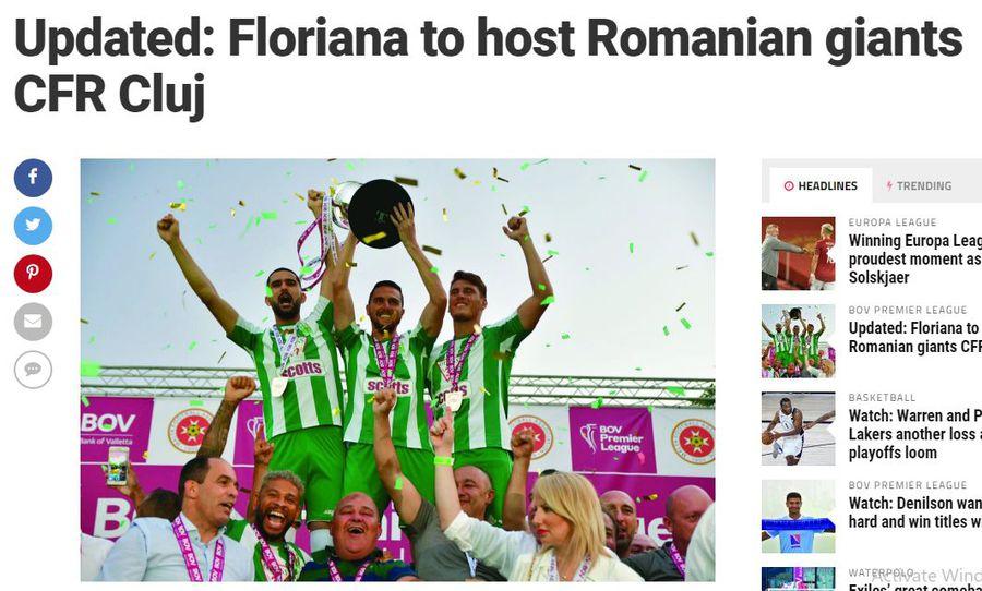 Așa a descris site-ul Sportsdesk tragerea la sorți