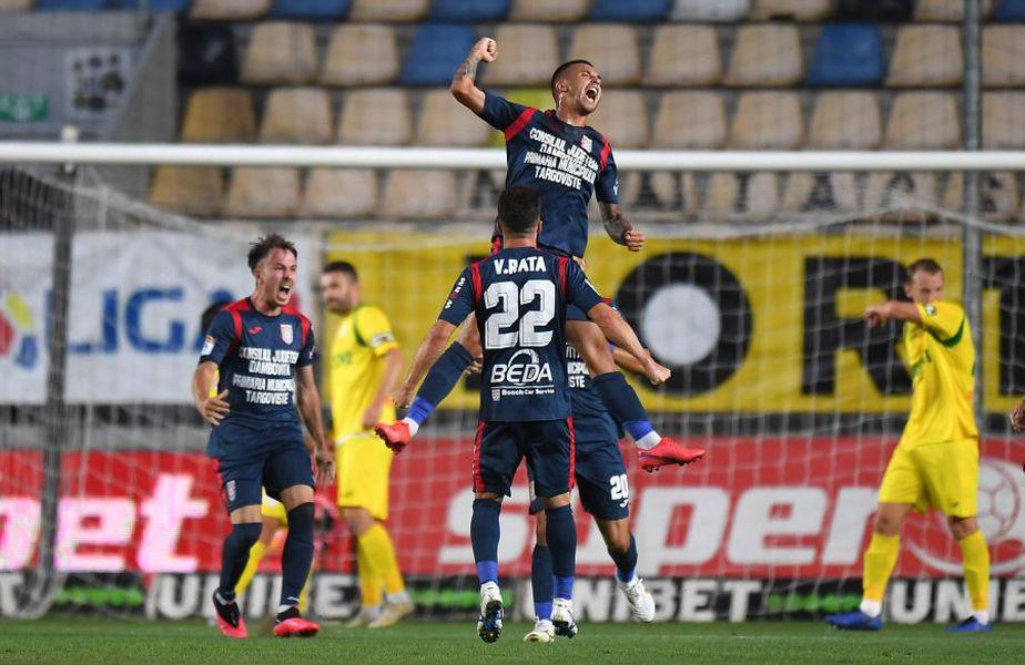 Chindia Târgoviște - CS Mioveni, prima manșă a barajului pentru Liga 1, a fost câștigată de gazde cu scorul de 2-0