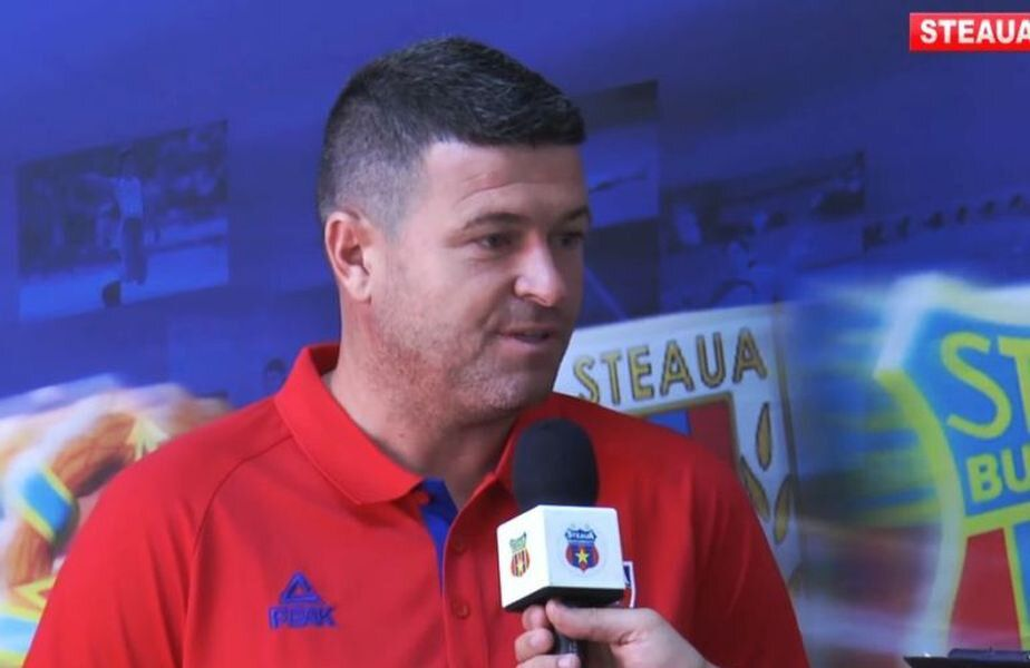 """Daniel Oprița (39 de ani), antrenorul CSA Steaua, a oferit declarații după succesul cu CS Balotești, scor 6-0, din Cupa României. """"Militarii"""" s-au calificat în turul II"""