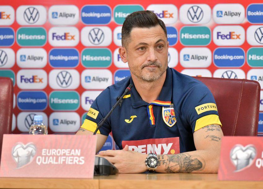 Selecționerul Mirel Rădoi a fost întrebat de declarațiile lui Răzvan Marin // FOTO: Cristi Preda