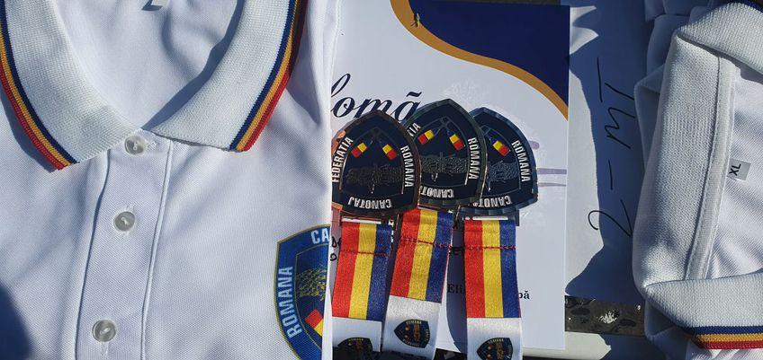 Medaliile și tricourile de campioni oferite de FR Canotaj anul acesta