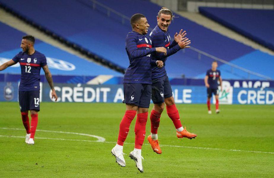 Mbappe și Griezmann, în meciul cu Ucraina // sursă foto: fff.fr