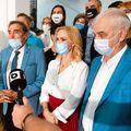 De la stânga la dreapta: Dumitru Dragomir, Petre Roman, Gabriela Firea și Anghel Iordănescu // foto: Facebook @ Gabriela Firea