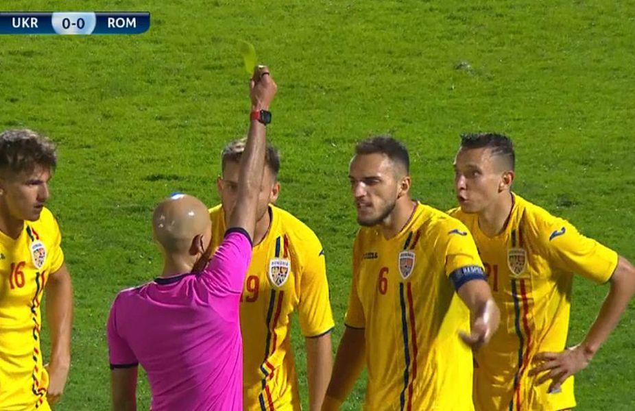FOTO Penalty-ul controversat care a tranșat partida Ucraina U21 - România U21