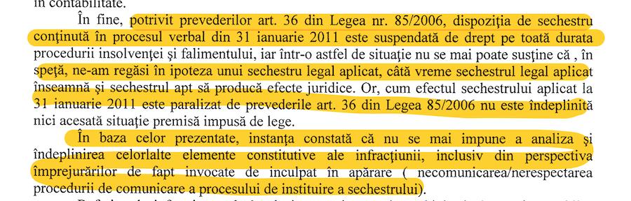 Extras din motivarea Tribunalului Dolj pentru achitarea lui Adrian Mititelu în dosaru în care Curtea de Apel Craiova l-a condamnat