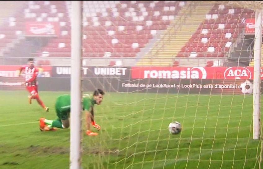 Portarul Alexandru Buzbuchi (27 de ani) a greșit flagrant la golul marcat de Vlad Morar (27 de ani), în prima repriză a partidei dintre UTA și Gaz Metan.