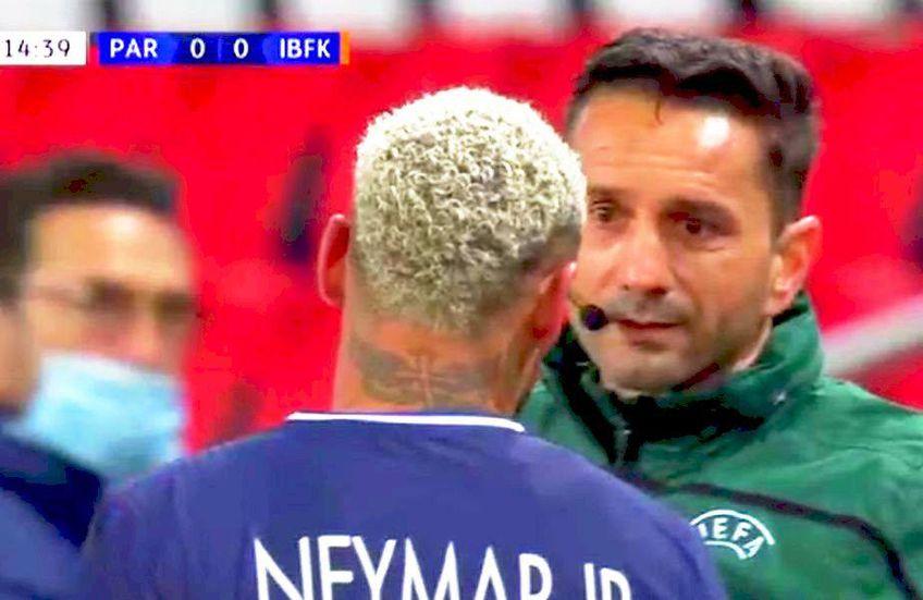 Sebastian Colțescu, discutând cu Neymar Jr. // foto: captură @ DigiSport