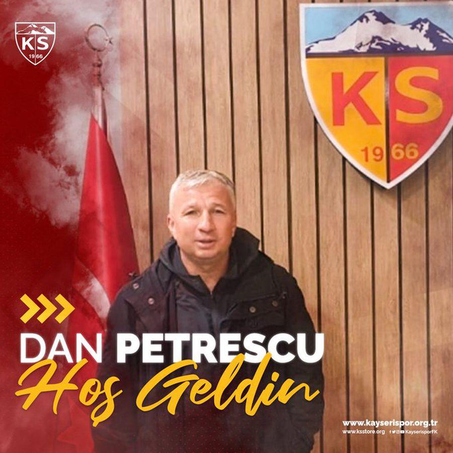 Dan Petrescu, prezentat oficial la Kayserispor! Durata contractului, primele declarații și câți bani va câștiga