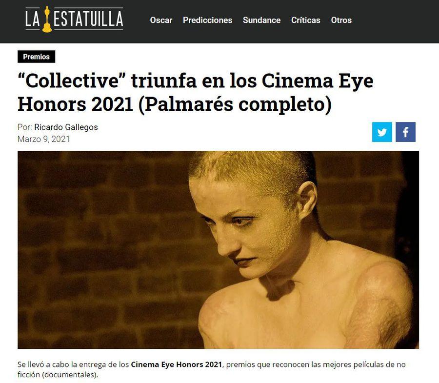 COLECTIV. Jurnaliștii Gazetei Sporturilor elogiați la New York, în gala documentariștilor, de unde n-a lipsit Martin Scorsese